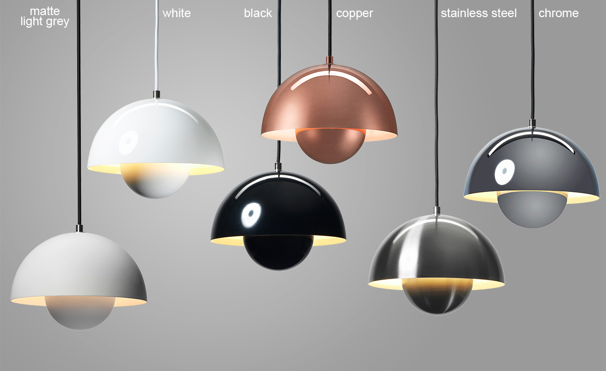 verner panton vp1 flowerpot suspension lamp. Black Bedroom Furniture Sets. Home Design Ideas