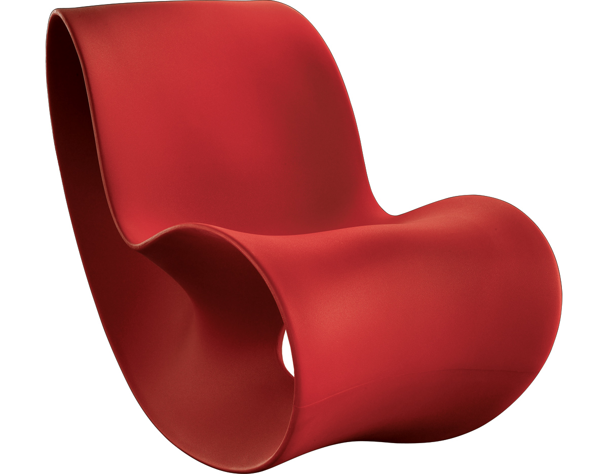 Modern classic lounge chair - Magis Voido Rocking Chair Hivemodern Com