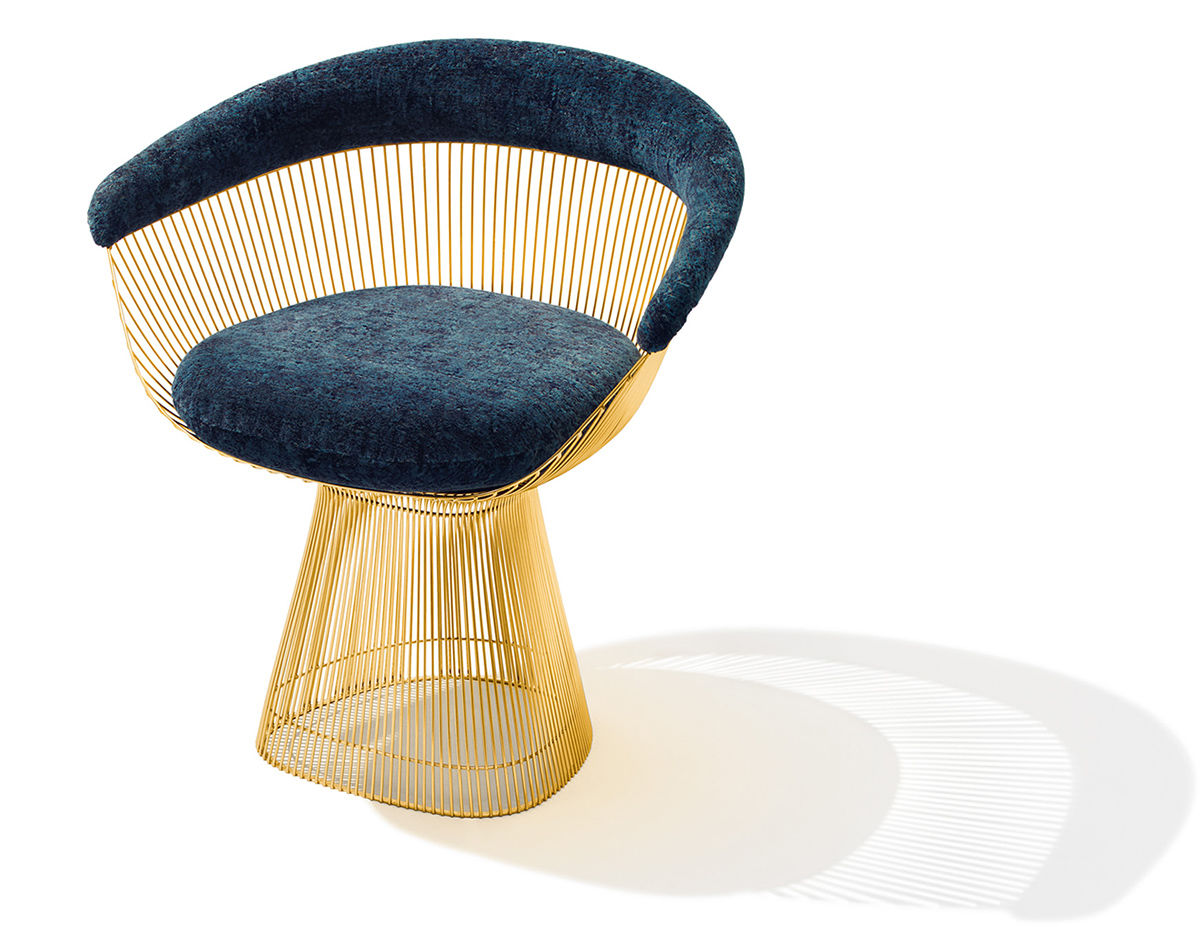 Delightful Platner Gold Plated Arm Chair
