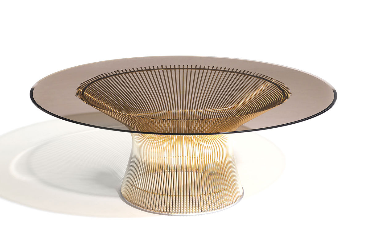 platner gold plated coffee table dia
