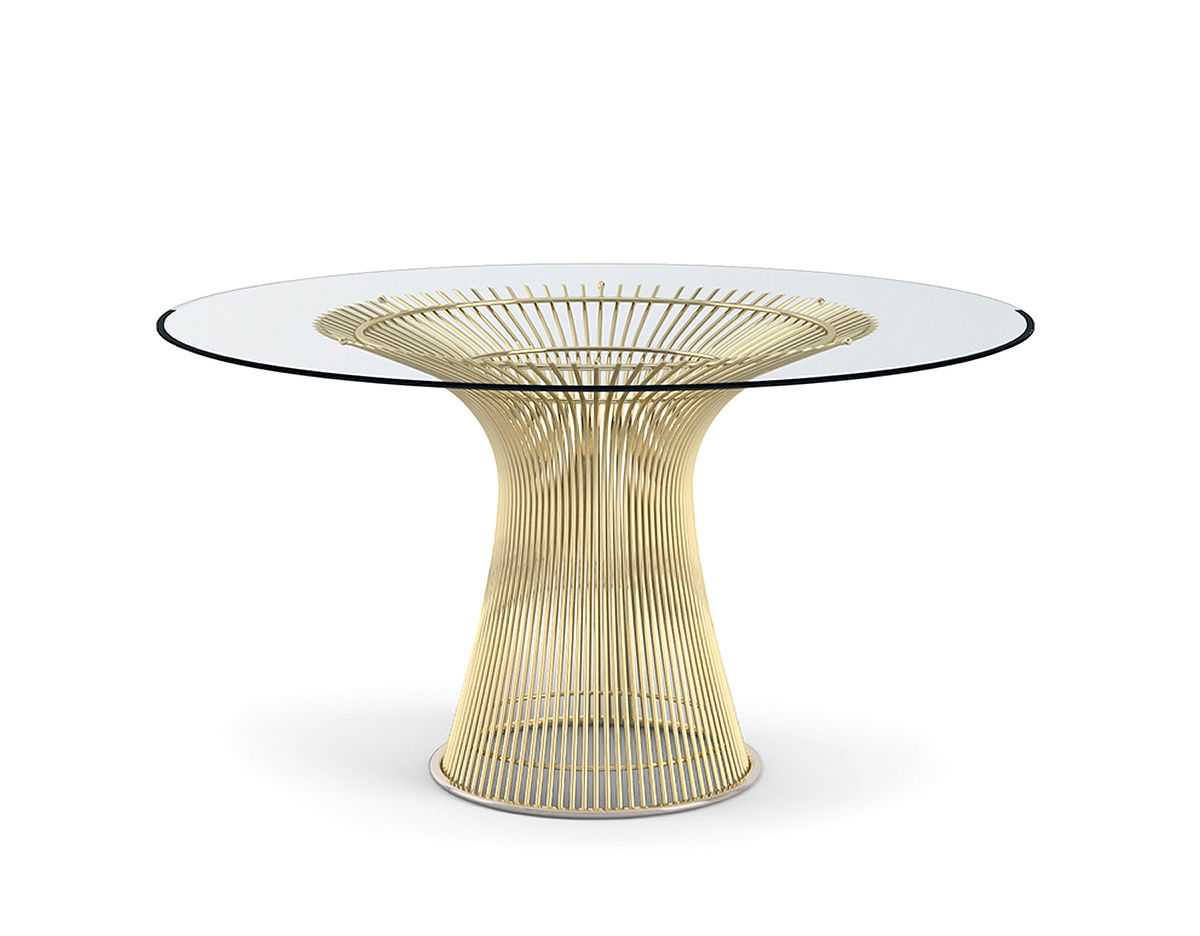 Warren Platner Gold Dining Table Knoll
