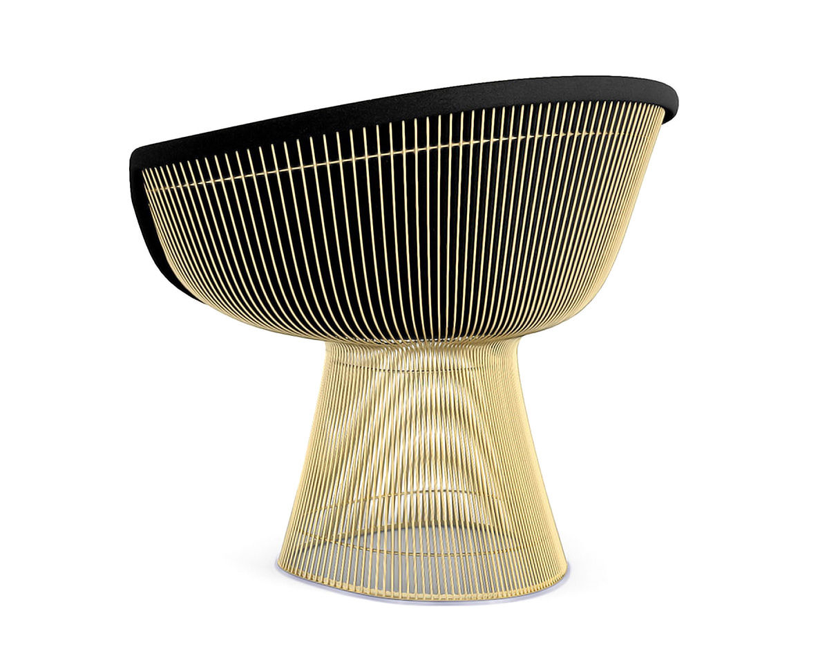 Platner Chair platner gold plated lounge chair - hivemodern