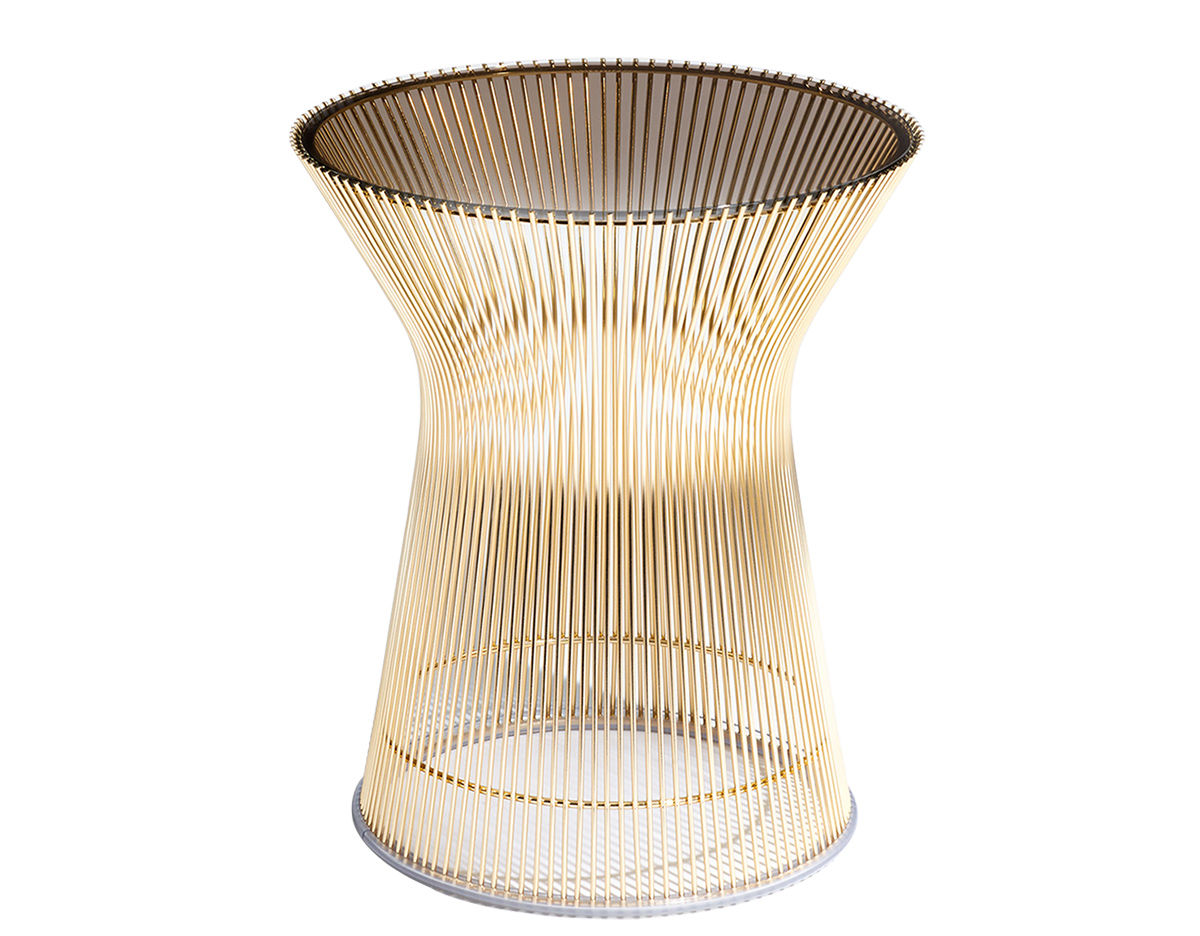 platner gold plated side table  hivemoderncom - overview