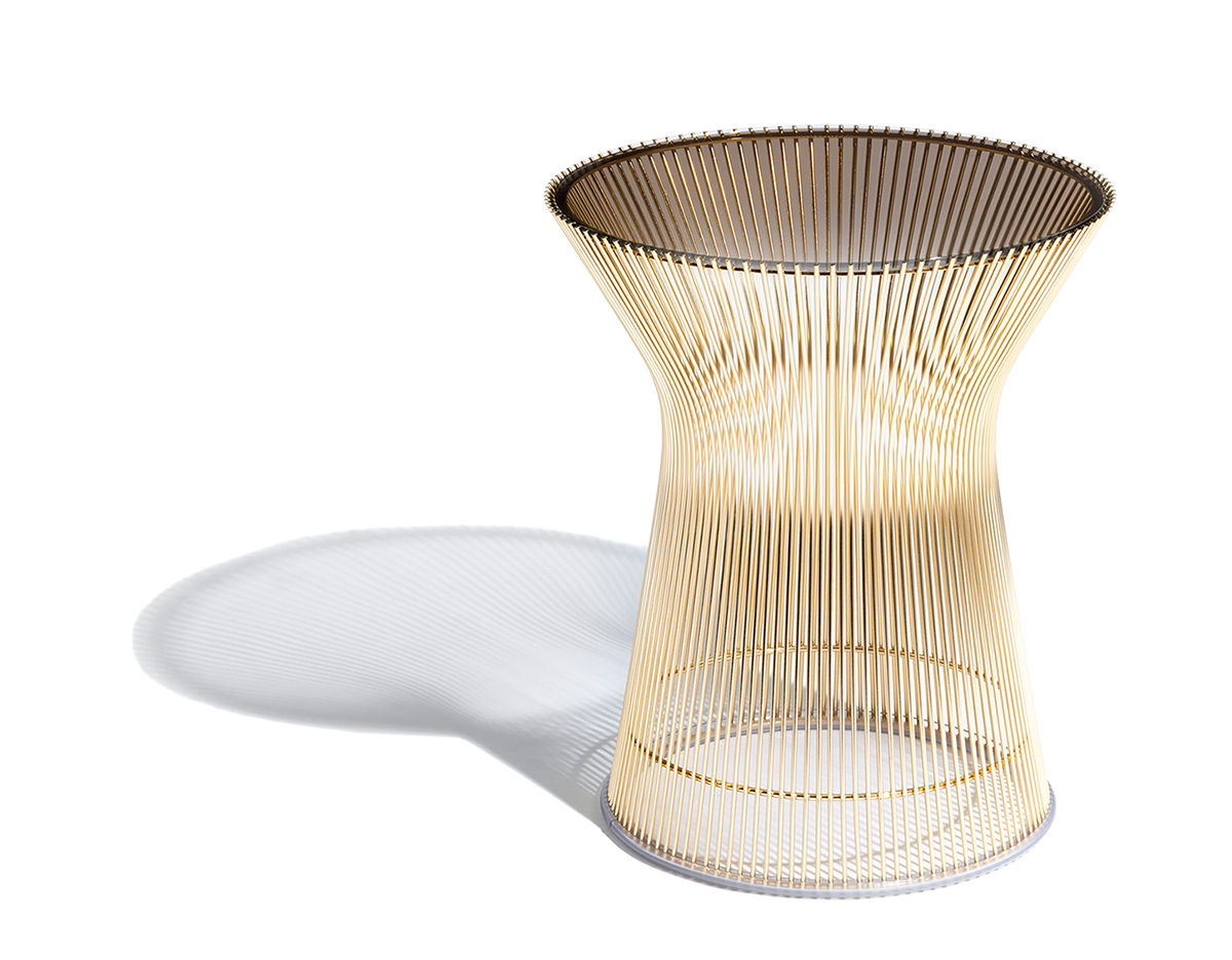 Platner Gold Plated Side Table Hivemodern Com