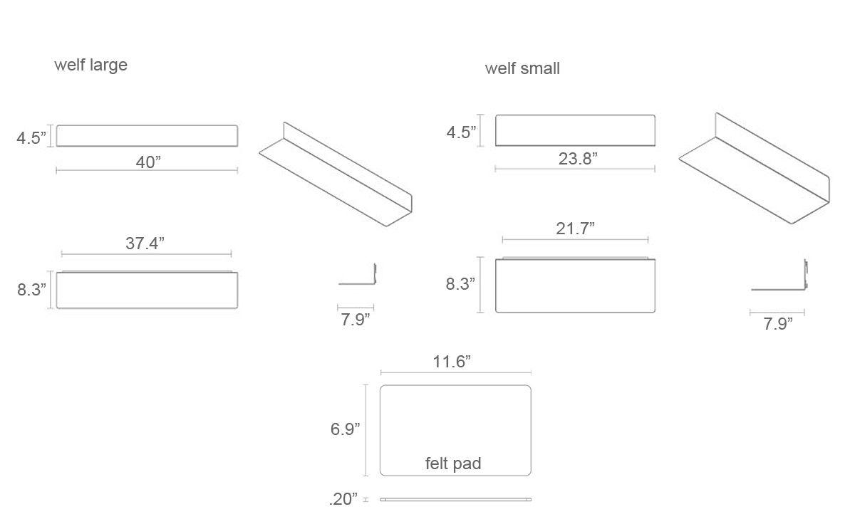Welf small wall shelf hivemodern welf small wall shelf ccuart Images