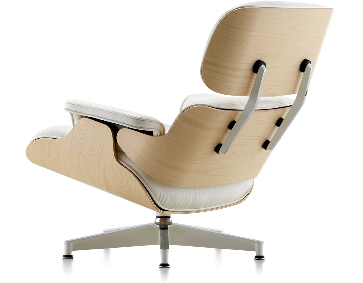 white ash eames lounge chair without ottoman. Black Bedroom Furniture Sets. Home Design Ideas