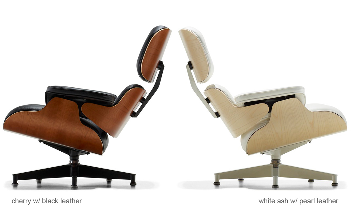 White Ash Eames Lounge Chair Without Ottoman hivemoderncom