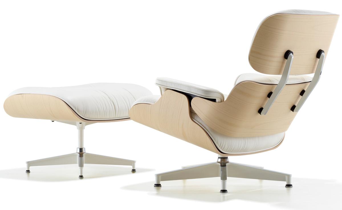 White ash eames 174 lounge chair amp ottoman hivemodern com - White Ash Eames Lounge Chair Ottoman Hivemoderncom