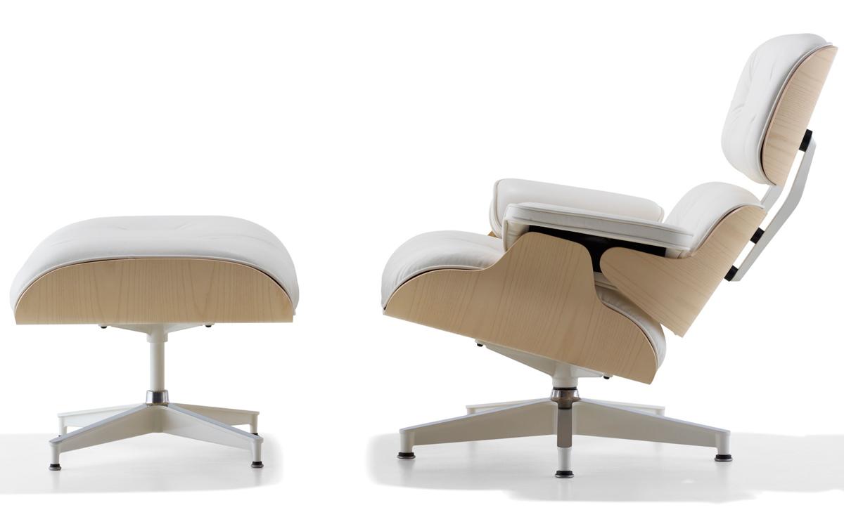 White Ash Eames 174 Lounge Chair Amp Ottoman Hivemodern Com