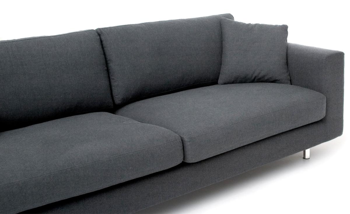 wide arm 2 seat sofa