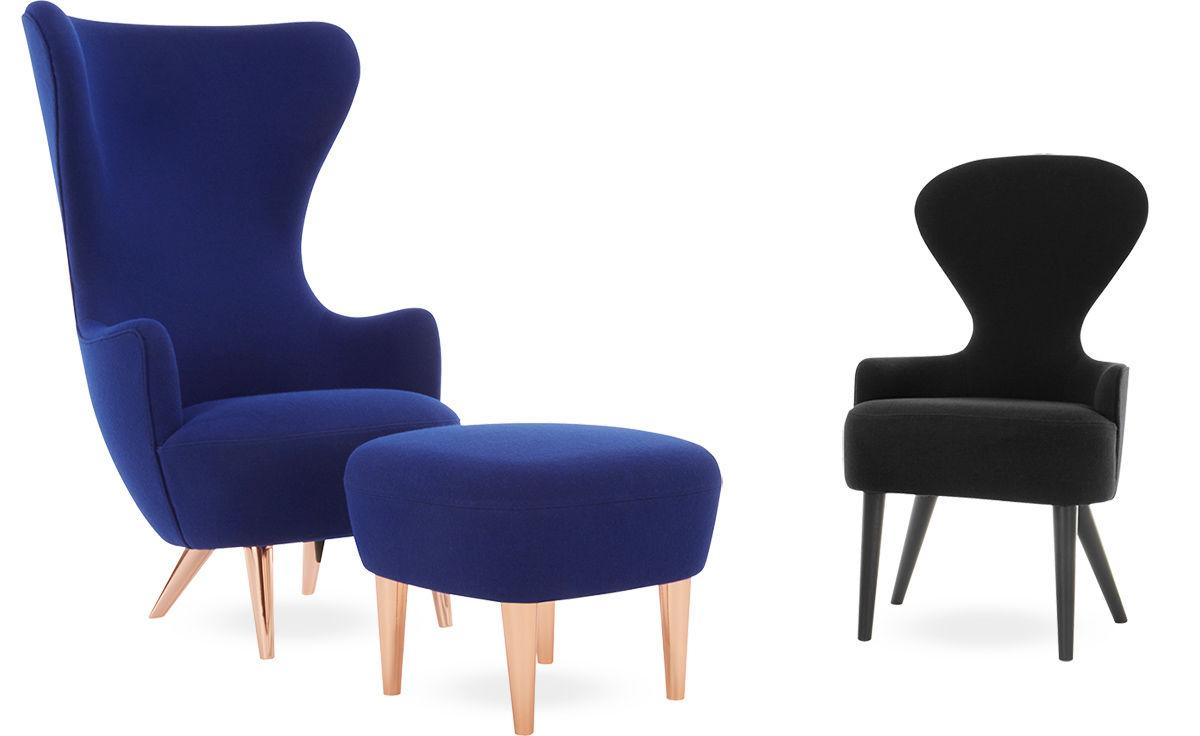 Wingback Lounge Chair & Ottoman - hivemodern.com