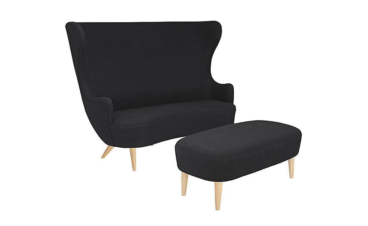 Wingback Long Ottoman Hivemoderncom - Tom dixon wingback chair