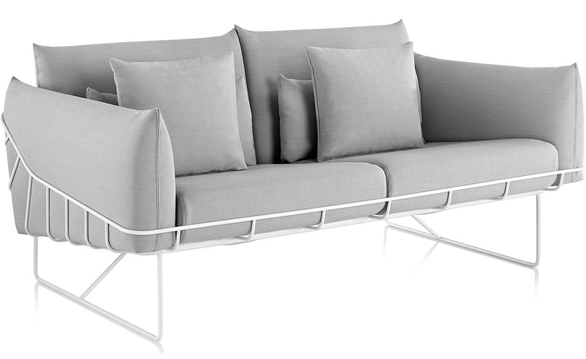 Wireframe 2 Seat Sofa Hivemodern Com