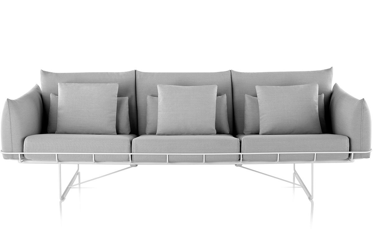 wireframe 3-seat sofa