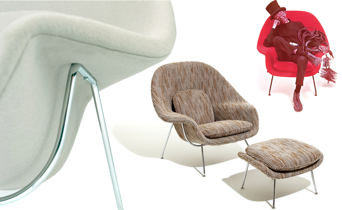 Womb Lounge Chair & Ottoman - hivemodern.com - overview ...