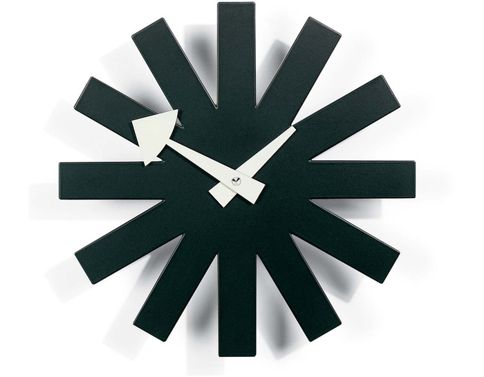 george nelson clock replacement parts asterisk black sunburst reproduction vitra night