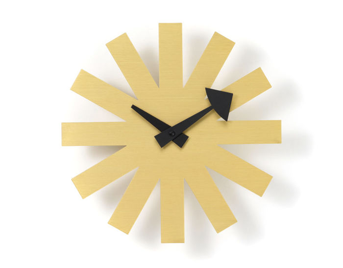 george nelson asterisk clock brass