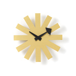 george nelson asterisk clock brass  -