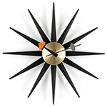 nelson black/brass sunburst clock - George Nelson - vitra.
