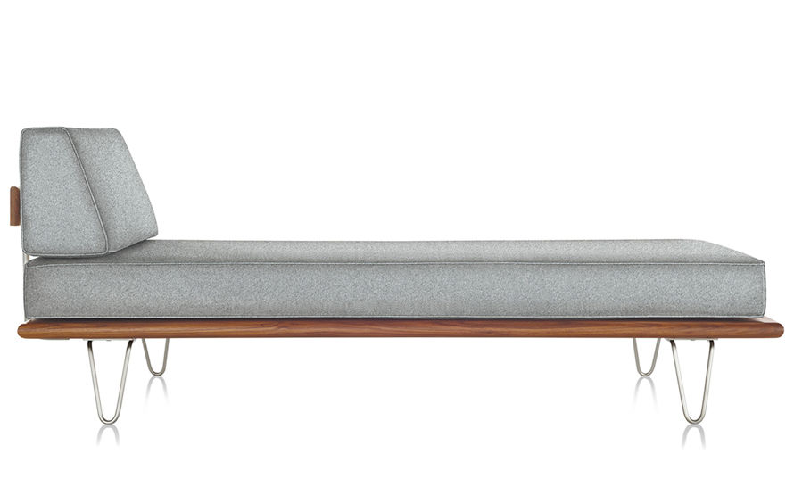 nelson™ daybed with end bolster & hairpin legs