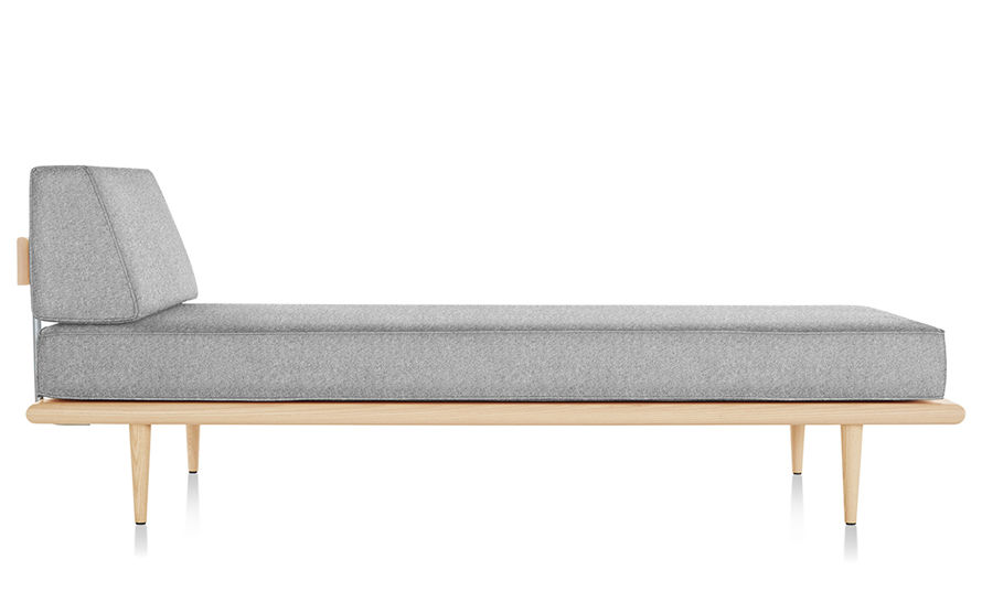 nelson™ daybed with end bolster & wood taper legs