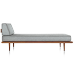 nelson™ daybed with end bolster & wood taper legs  -