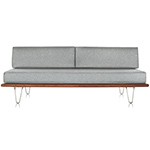 nelson™ daybed with two bolsters & hairpin legs  -