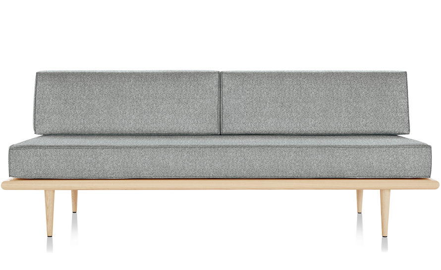 nelson™ daybed with two bolsters & wood taper legs