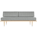 nelson™ daybed with two bolsters & wood taper legs  -