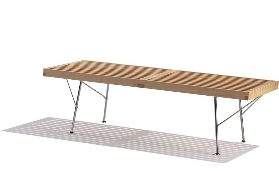 george nelson™ platform bench with metal base