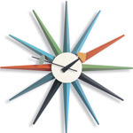 george nelson sunburst clock multicolor