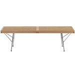 george nelson™ platform bench with metal base  -