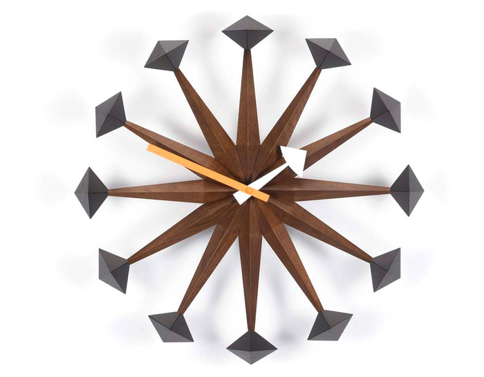 Photo Wall Clock george nelson polygon wall clock - hivemodern