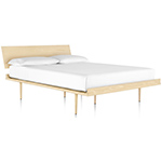 nelson™ thin edge bed with wood taper legs  -