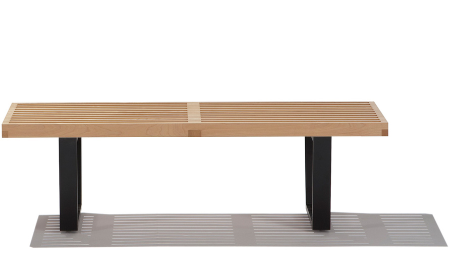 george nelson™ platform bench with wood base
