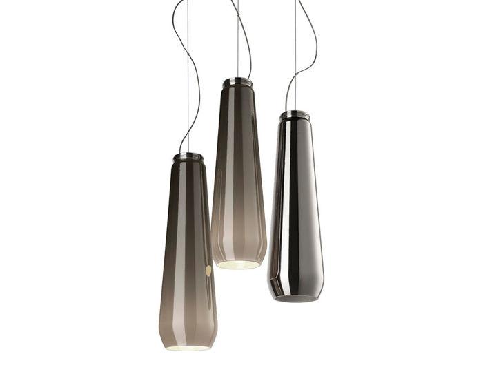 glass drop suspension lamp