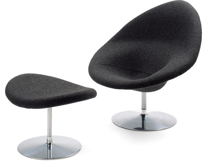 globe lounge chair & ottoman