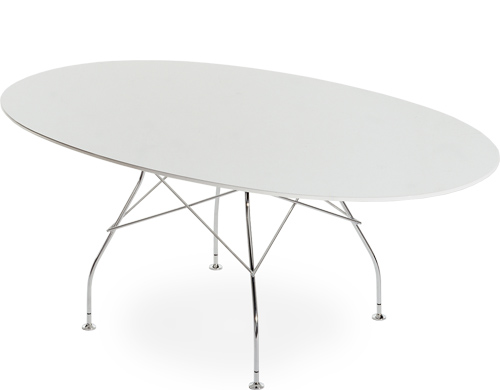 Glossy oval table for Table kartell