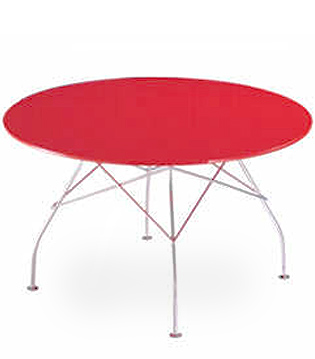 Glossy Round Table hivemoderncom