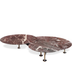 grasshopper low triple round table - Piero Lissoni - Knoll