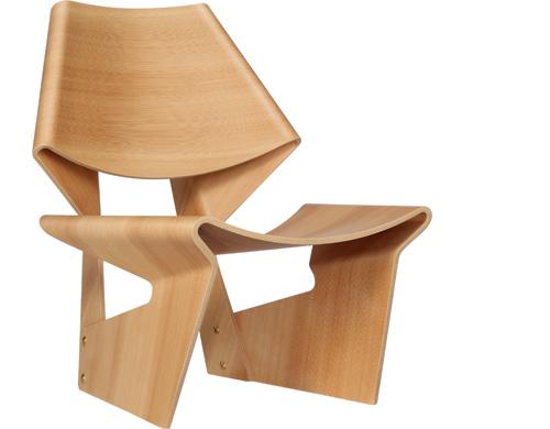 grete jalk gj bow chair hivemodern com laminate chairside table laminate chairside table