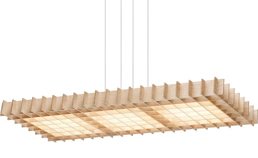 grid rectangular suspension lamp