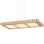 grid rectangular suspension lamp  -