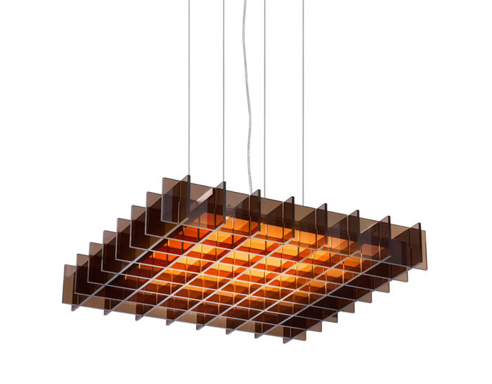 grid square suspension lamp