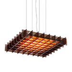 grid square suspension lamp  -