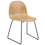 gubi 2d sledge base dining chair  -
