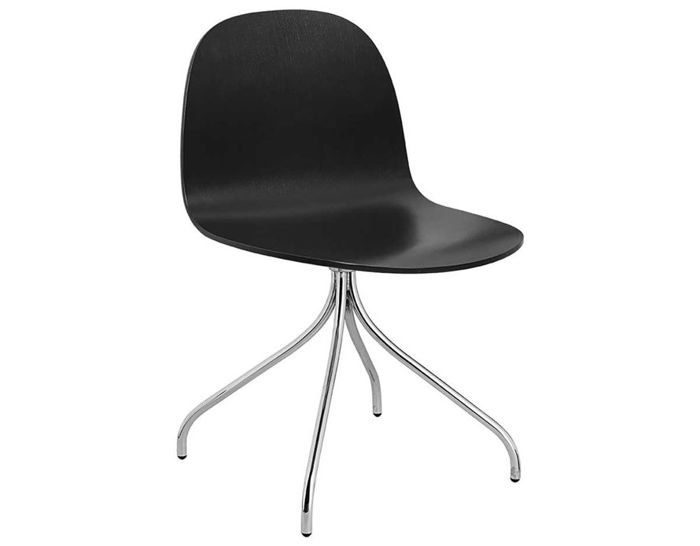 gubi 2d swivel base dining chair