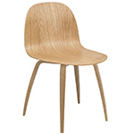 gubi 2d wood base dining chair  -