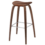 gubi 2d wood base stool  -