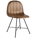 gubi 3d center base wood dining chair  -